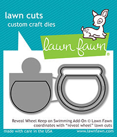 Lawn Fawn Reveal Wheel Keep On Swimming ADD ON Dies - Craftastic Cabin Inc