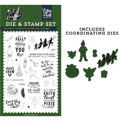 Echo Park Lost in Neverland Die/Stamp Set