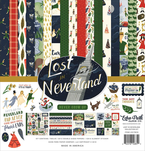 Echo Park Collection Lost in Neverland Collection Kit 12
