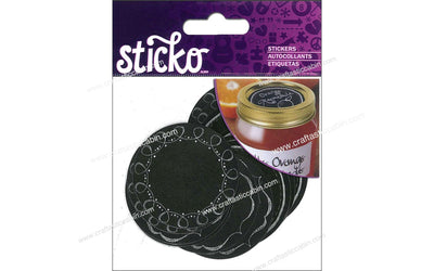 EK Sticko Stickers Labels Chalk Mason Jar 12pc
