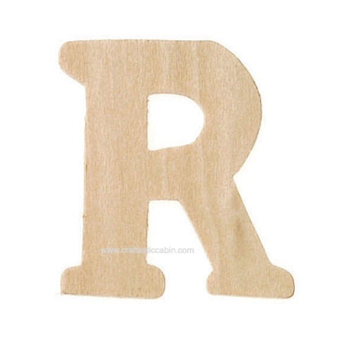 Letter R Wood Cutouts: Unfinished, 1.5 Inches, 2 Pack | Craftastic Cabin Inc