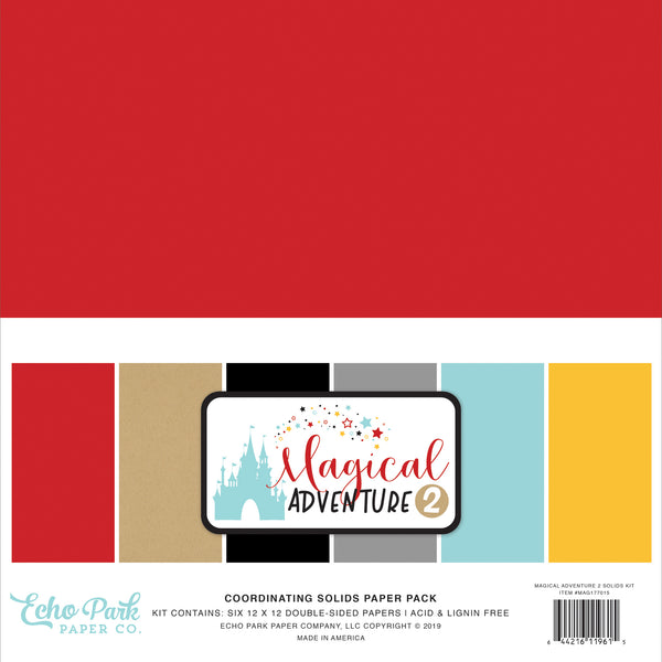 Echo Park Collection Magical Adventure 2 Solids Kit 12
