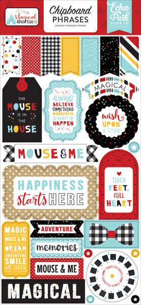 Echo Park Collection Magical Adventure 2 6x13 Chipboard Phrases | Craftastic Cabin Inc