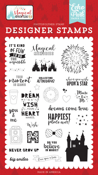 Echo Park Dreams Come True 4x6 Stamp Set | Craftastic Cabin Inc