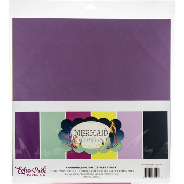 Echo Park Collection Mermaid Dreams Solids Kit 12