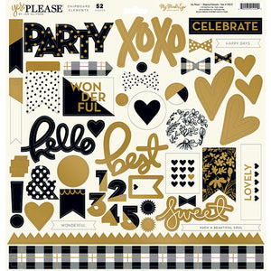 My Mind's Eye Collection Yes Please Chipboard Elements | Craftastic Cabin Inc