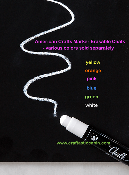 American Crafts Marker Erasable Chalk - various colors sold separately | Craftastic Cabin Inc