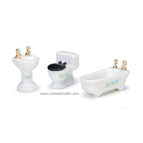 Timeless Minis™ - Bathroom Set - Assorted Sizes - 1 Set | Craftastic Cabin Inc