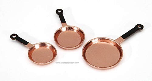 Timeless Minis™  Copper Frying Pans 3pc 1 Set | Craftastic Cabin Inc