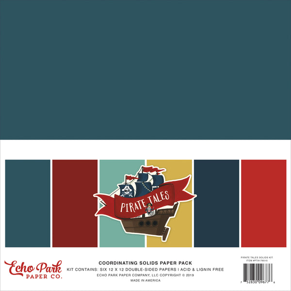 Echo Park Pirate Tales Solids 12x12 Kit | Craftastic Cabin Inc