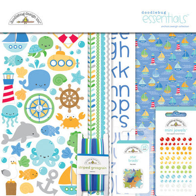 Doodlebug Collection Anchors Aweigh Paper Pack 12
