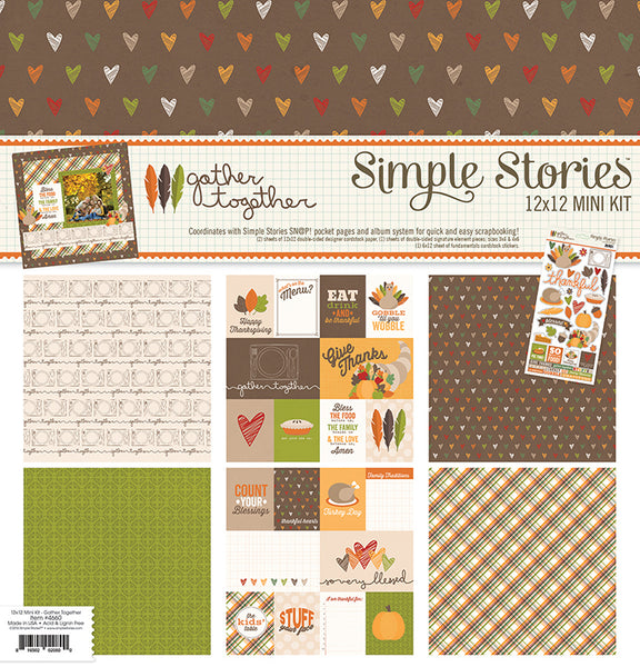 Simple Stories Collection Gather Together Kit 12