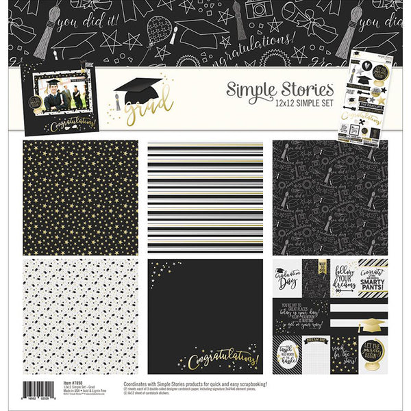 Simple Stories Collection Grad Collection Kit 12
