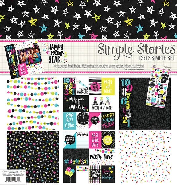 Simple Stories Collection Happy New Year Collection Kit 12