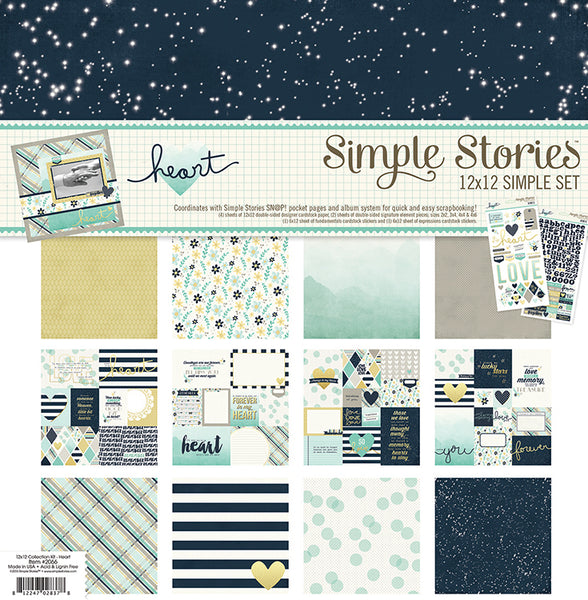 Simple Stories Collection Heart Collection Kit 12