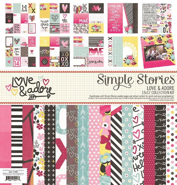 Simple Stories Collection Love & Adore Collection Kit 12