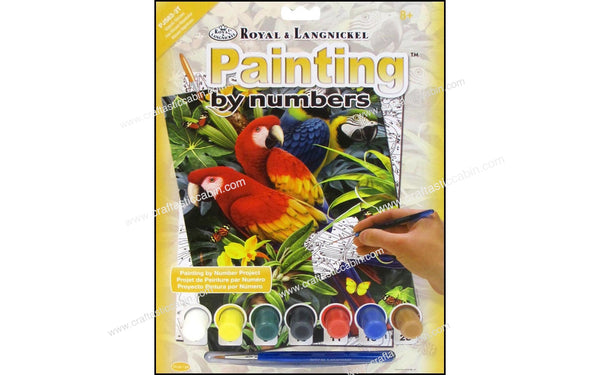 Royal Paint By Number Junior Majestic Macaws | Craftastic Cabin Inc