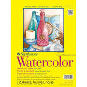 "Strathmore Watercolor Paper Pad 9""X12"" 12 Sheets"