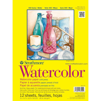 Strathmore Watercolor Paper Pad 9