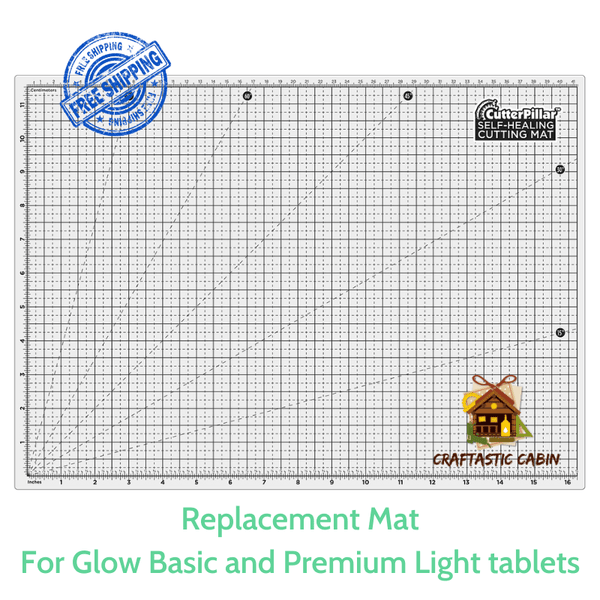 CutterPillar Glow Replacement Mat (for Glow Basic and Premium) | Craftastic Cabin Inc