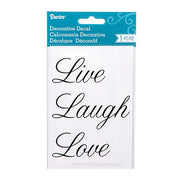"Decorative Word Decals: Matte Black Script ""Live Laugh Love"" Stickers"