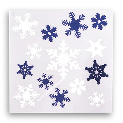 Snowflake Decals: White/Blue, 6 X 6 Inches