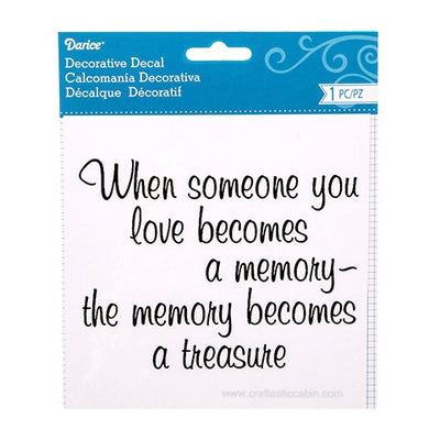 Someone You Love Decorative Decal: 6 X 6 Inches