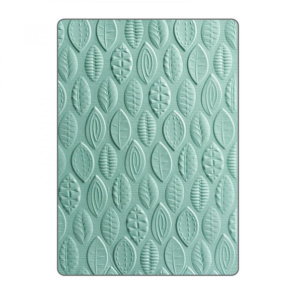Sizzix Embossing Folders Lynda Kanase 3D Textured Impressions Leaves | Craftastic Cabin Inc