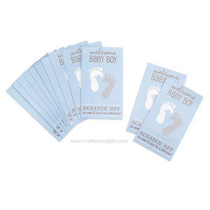 Scratch Off Cards - Baby Blue - 12 Pieces | Craftastic Cabin Inc