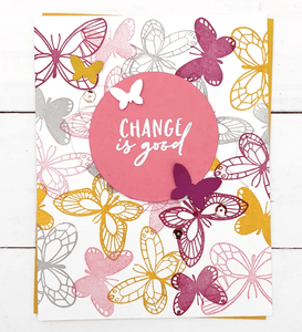 "Concord & 9th Clear Stamps 5""X6"" - BUTTERFLY LOVE DIES"