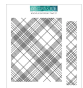 "Concord & 9th Clear Stamps 5""X6"" - Woven Plaid Background"