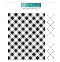 "Concord & 9th Clear Stamps 5""X6"" - Gingham Background"