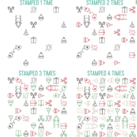"Concord & 9th Clear Stamps 5""X6"" - CHRISTMAS CHEER TURNABOUT STAMP SET"