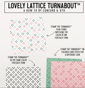 "Concord & 9th Clear Stamps 5""X6"" - LOVELY LATTICE TURNABOUT™ STAMP"