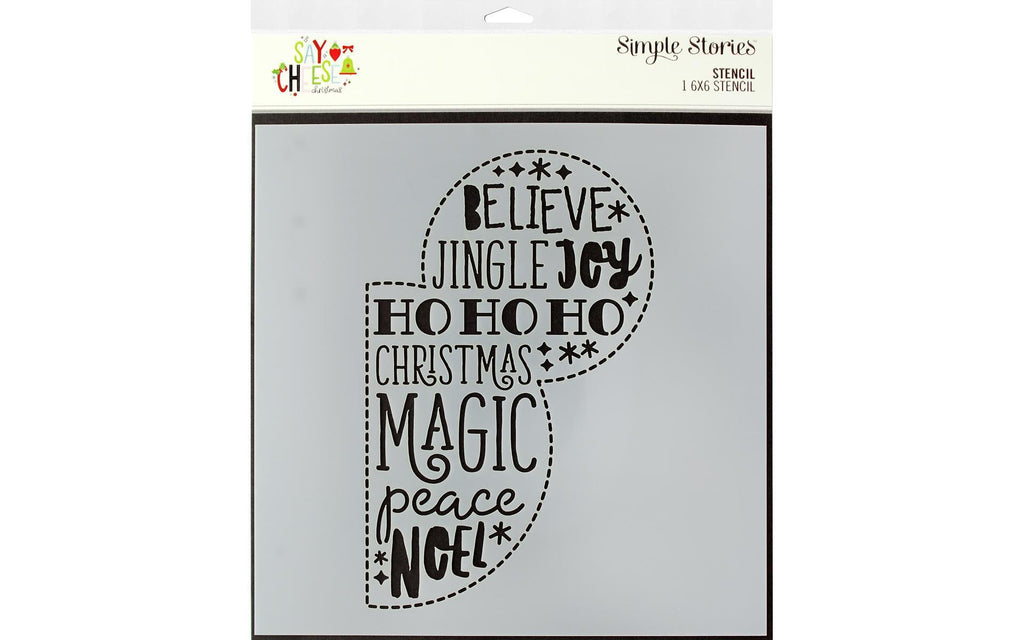 "Simple Stories Collection Say Cheese Christmas Stencil 6""x 6"""