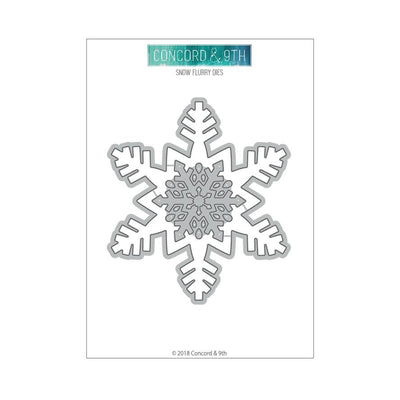 Concord & 9th Clear Stamps - SNOW FLURRY DIES