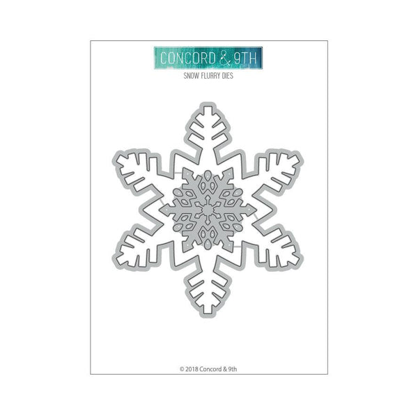 Concord & 9th Clear Stamps - SNOW FLURRY DIES | Craftastic Cabin Inc