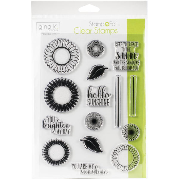 Gina K Designs Clear Stamps - Graphic Sunflowers | Craftastic Cabin Inc