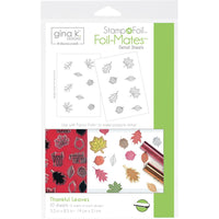 Gina K Designs StampNFoil Foil-Mates Detail Sheets 10/Pkg - Thankful Leaves | Craftastic Cabin Inc