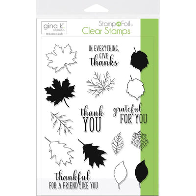 Gina K Clear Stamps - Thankful Leaves
