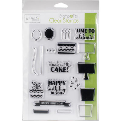 Gina K Designs Clear Stamps Time to Celebrate