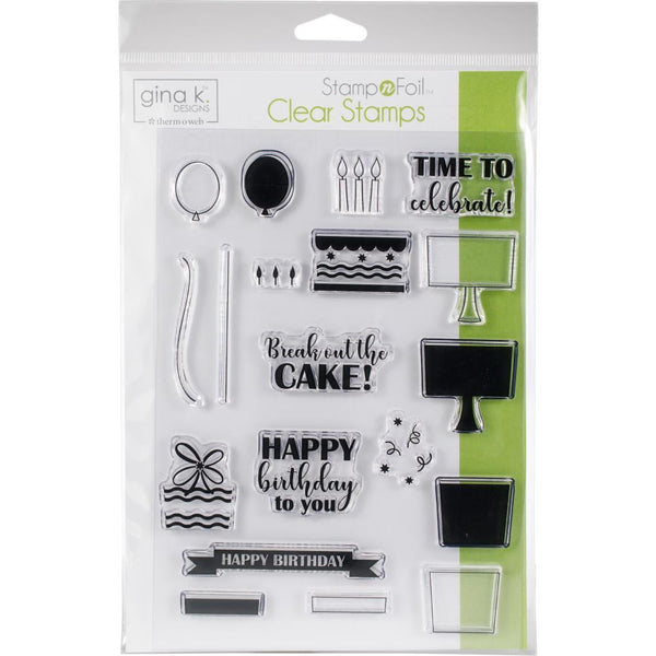 Gina K Designs Clear Stamps Time to Celebrate | Craftastic Cabin Inc