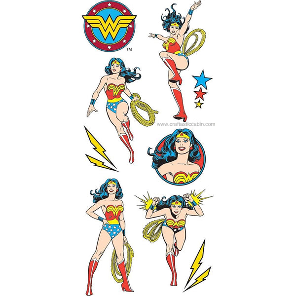 Paper House Cardstock Stickers Wonder Woman | Craftastic Cabin Inc