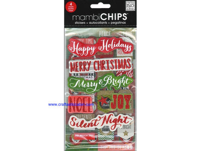 Me & My Big Ideas Sticker Designer Chipboard Holiday Tags/Numbers