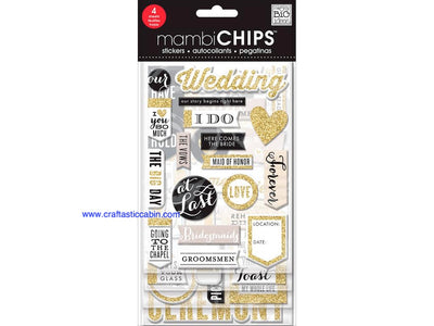 Me & My Big Ideas Sticker Designer Chipboard Our Wedding