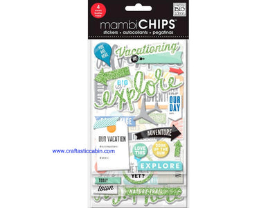 Me & My Big Ideas Sticker Designer Chipboard Vacation
