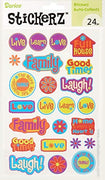Darice Stickerz LIVE LOVE LAUGH Themed Stickers, 24 Piece