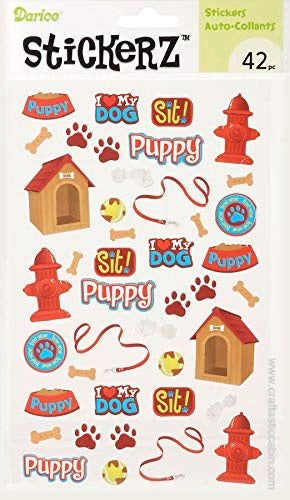 Darice Stickerz PUPPY Themed Stickers, 42 Piece | Craftastic Cabin Inc