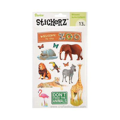 Darice Stickerz Welcome to the ZOO Themed Stickers, 13 Piece