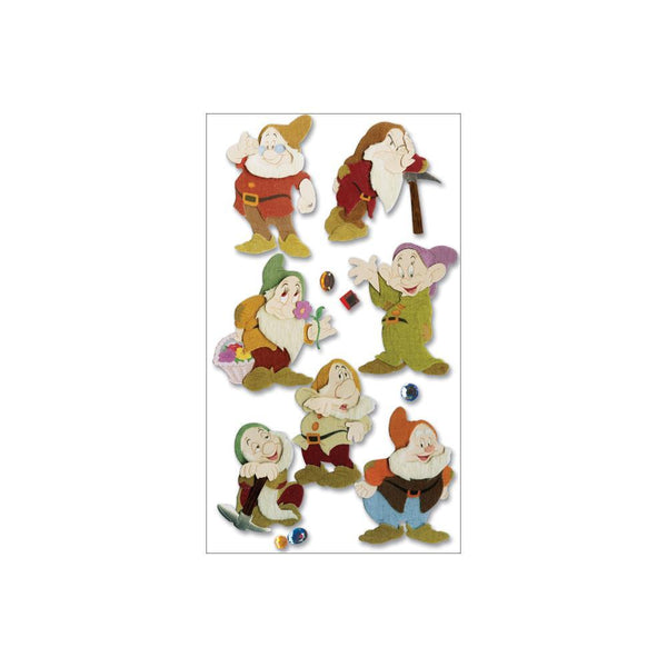 Jolee's EK Success Disney Dimensional Stickers - The Seven Dwarfs | Craftastic Cabin Inc